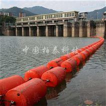 武都水电站拦漂装置浮筒 塑料拦污桶案例