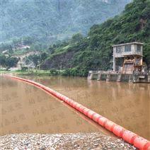白龙江水电站用高分子塑料拦污浮筒拦污排